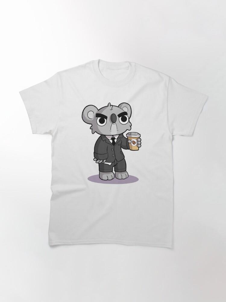 Vista alternativa de Camiseta clásica Gruñón Koala