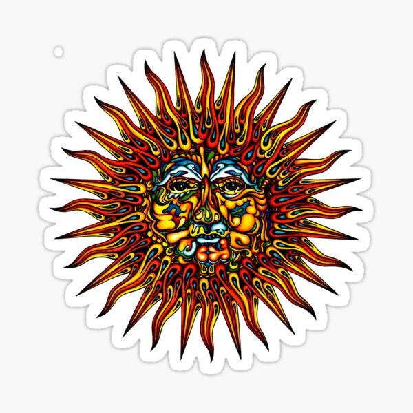 Psychedelic Sun Sticker