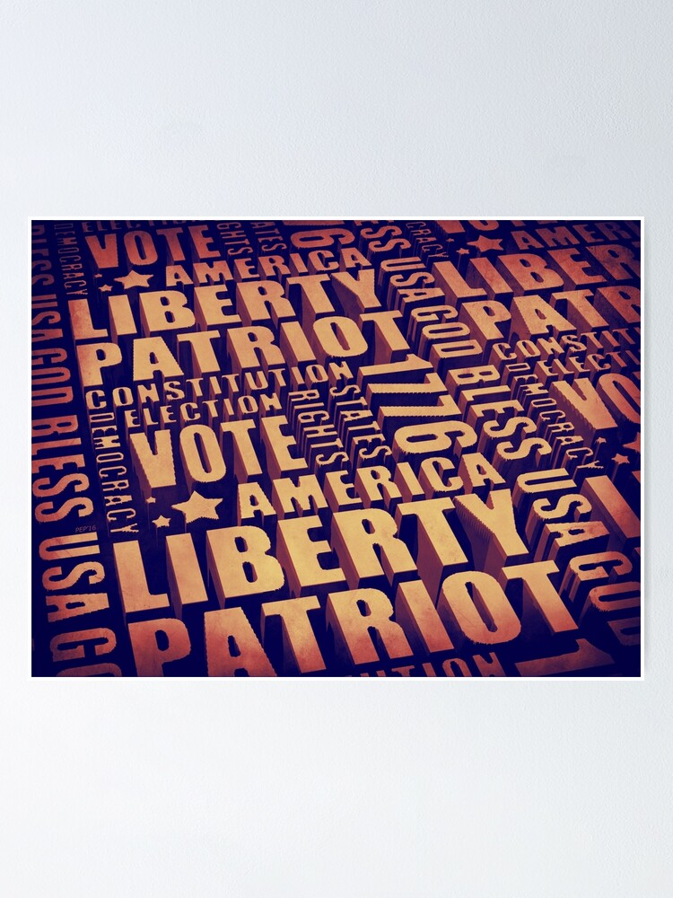 Alternate view of Patriotic Typography Poster