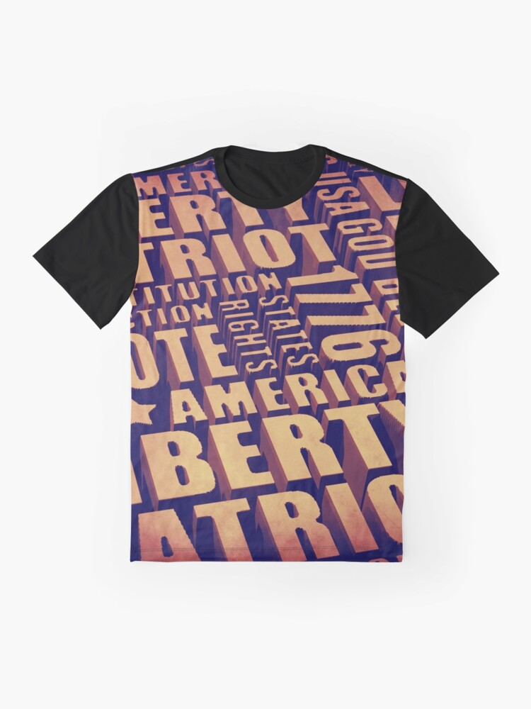 Alternate view of Patriotic Typography Graphic T-Shirt