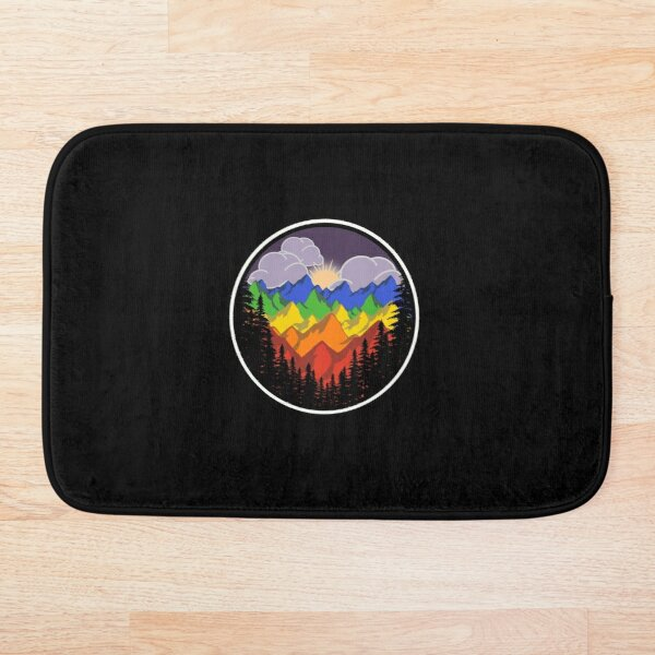 Gay Pride Mountain Bath Mat