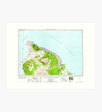 USGS TOPO Map Hawaii HI Hawaii North 349919 1961 250000 Art Print