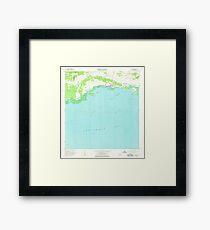 USGS TOPO Map Puerto Rico PR Parguera 362179 1966 20000 Framed Print
