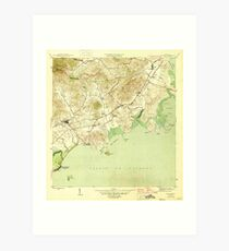 USGS TOPO Map Puerto Rico PR Naguabo 362488 1946 30000 Art Print