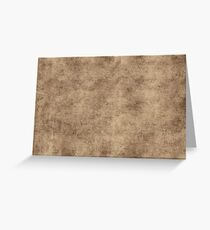 Vintage Brown Gray Parchment Paper Textured Background Greeting Card