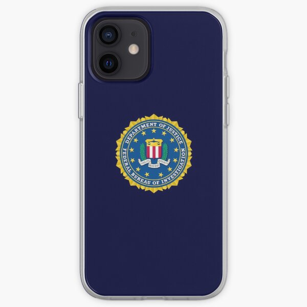 FBI FEDERAL BUREAU OF INVESTIGATION DEPARTMENT OF JUSTICE OF THE UNITED STATES iPhone Soft Case
