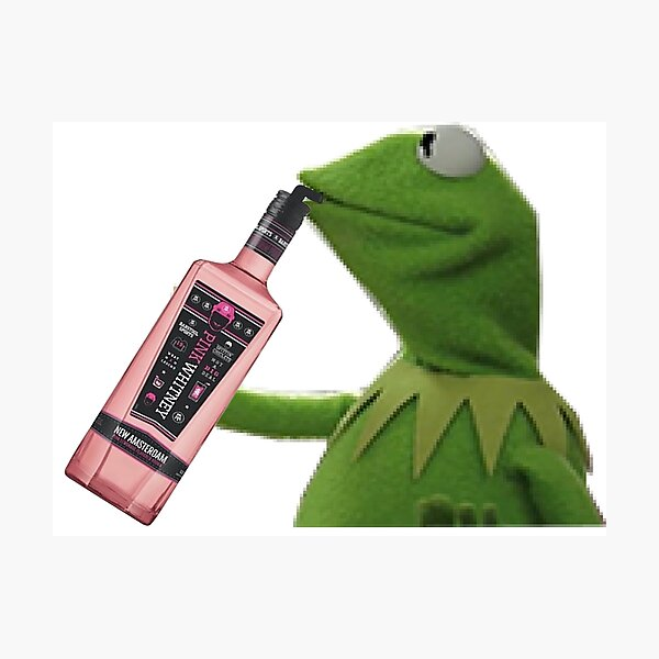 Kermit sipping pink whitney Photographic Print