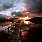 Lake Te Anau Sunset. New Zealand by Ralph de Zilva