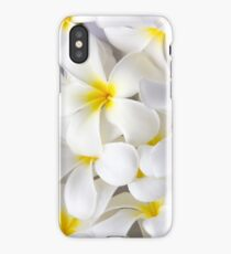 White Plumeria Tropical Frangipani Flowers iPhone Case