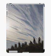 walking downhill iPad Case/Skin