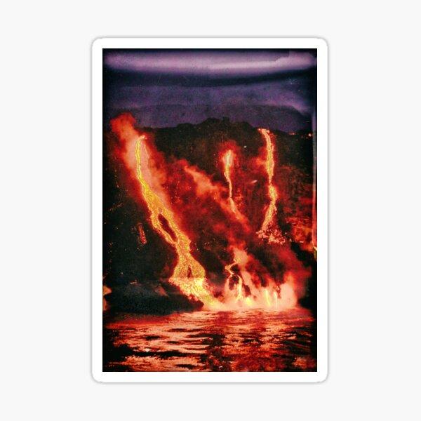 Kilauea Lava Waterfall Sticker