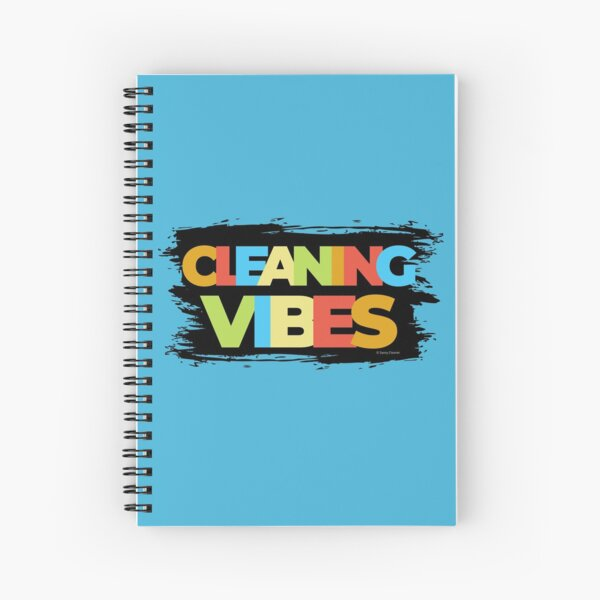 Cleaning Vibes Funny Cleaning Shirt Cleaning Lady Gift Spiral Notebook