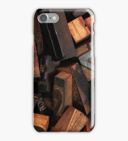 Letterpress printing iPhone Case/Skin