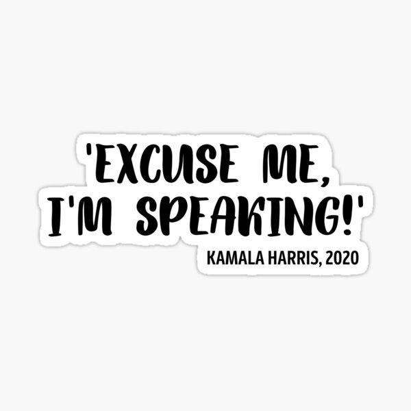 Debate Club - Debate Team - Original Oratory - Debater - Kamala Harris Sticker