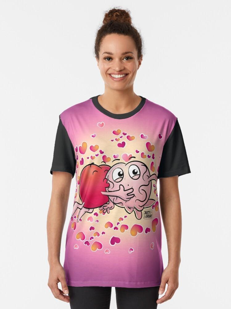 Vista alternativa de Camiseta gráfica San Valentin-J&B LILA