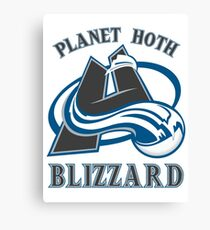 Planet Hoth Blizzard Canvas Print