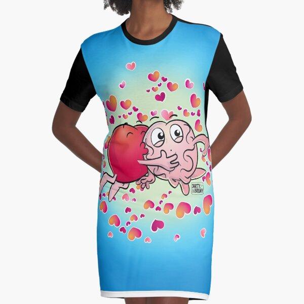 San Valentin-J&B CELESTE Vestido camiseta