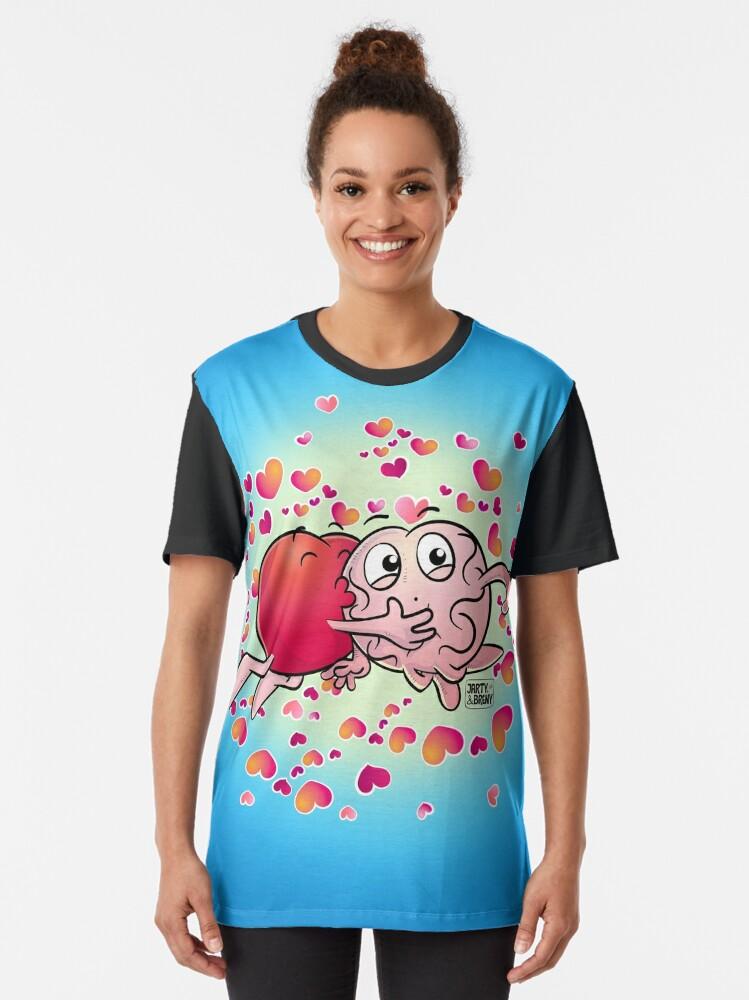 Vista alternativa de Camiseta gráfica San Valentin-J&B CELESTE