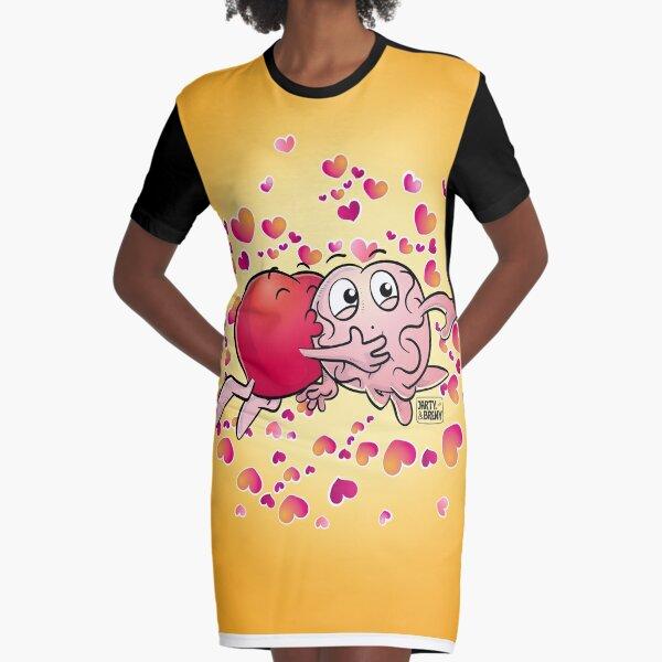 San Valentin-J&B AMARILLO Vestido camiseta