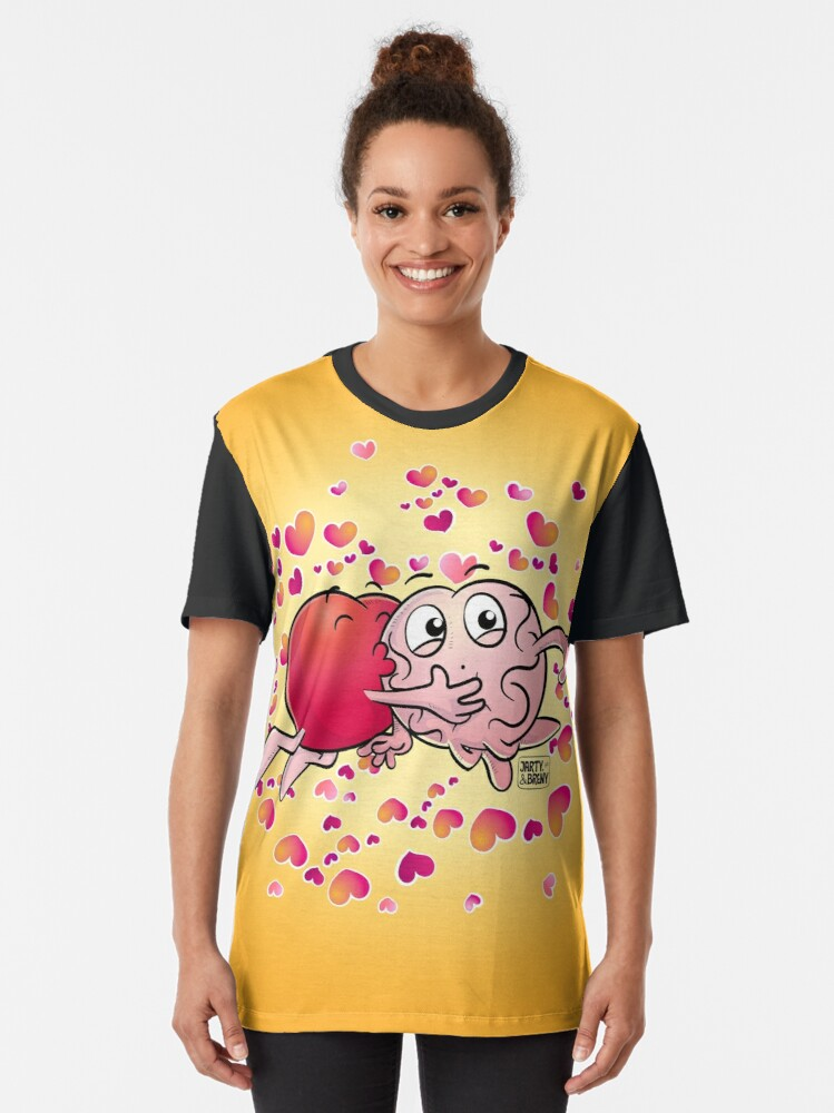 Vista alternativa de Camiseta gráfica San Valentin-J&B AMARILLO