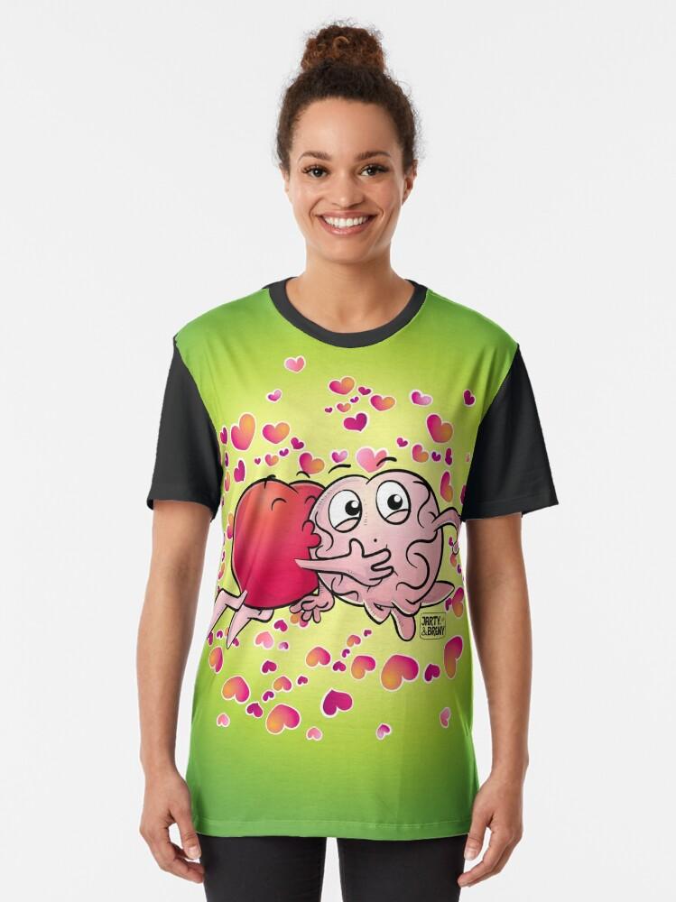 Vista alternativa de Camiseta gráfica San Valentin-J&B VERDE