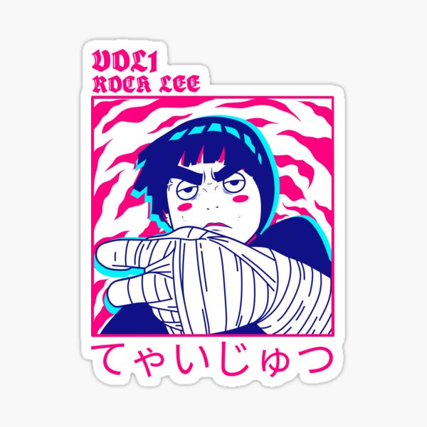 R-ock Lee drunk  Sticker