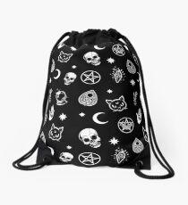 Witch Pattern Drawstring Bag