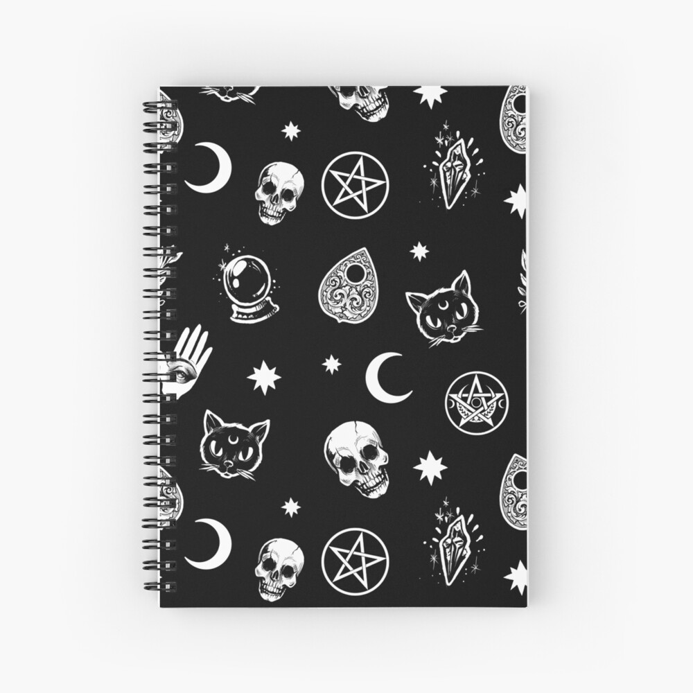 Witch Pattern Spiral Notebook