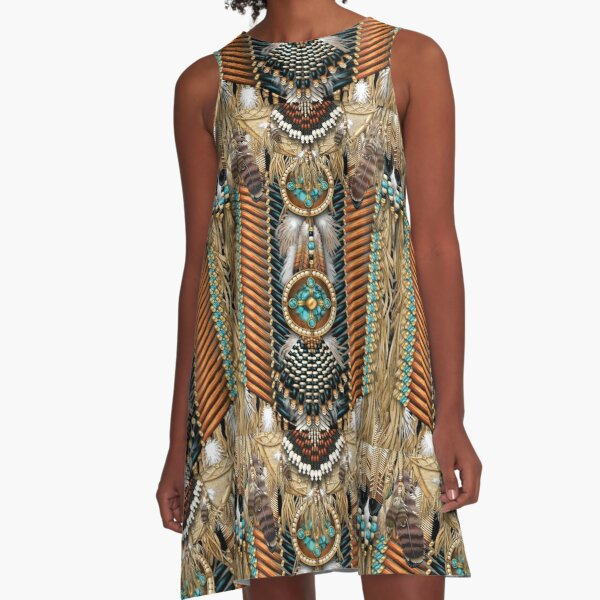 Native American 20 SKY A-Line Dress