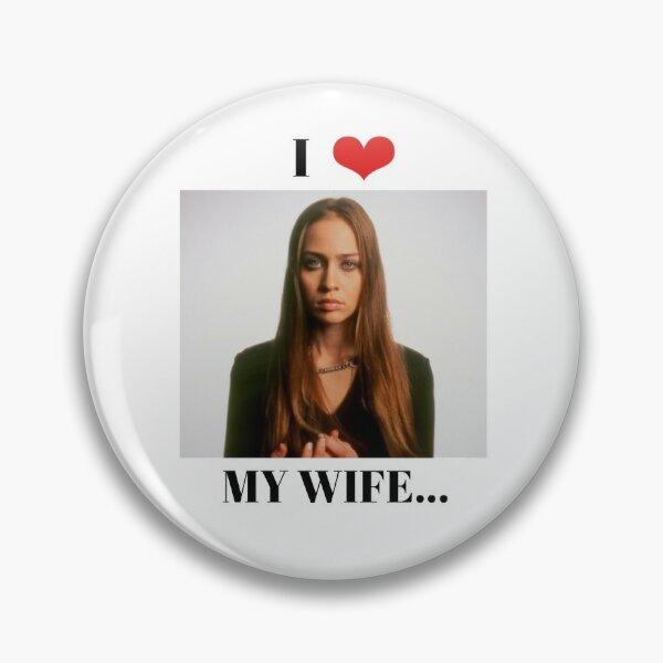 I Heart My Wife Fiona Apple Pin