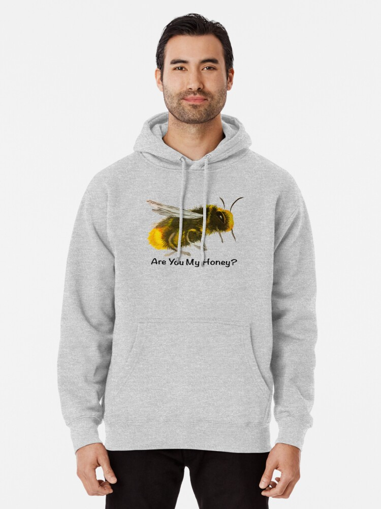 Alternate view of Are You My Honey? (Bee) Pullover Hoodie