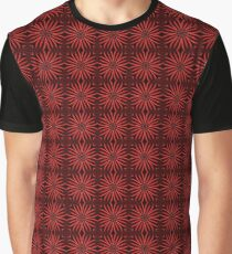 Spinning Red Metal Flower Petals on Black Background Graphic T-Shirt