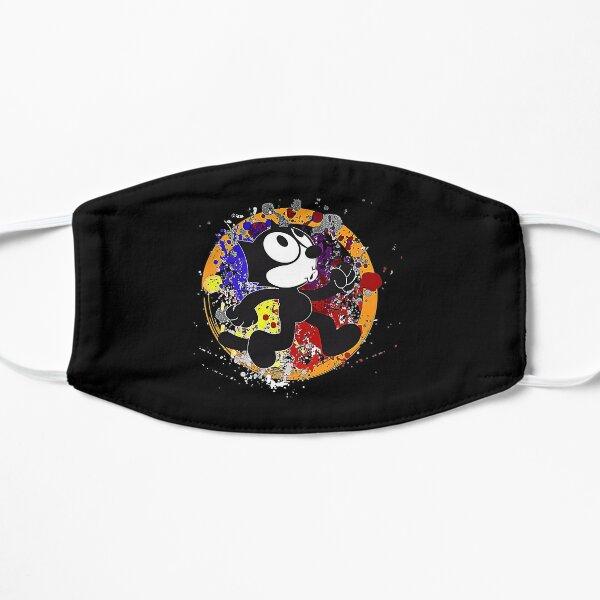 Felix el gato color camiseta Mascarilla plana