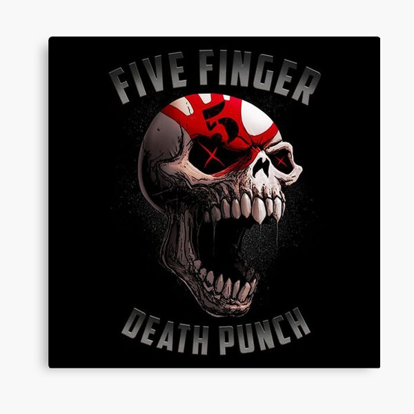 Ready To Hang Grunge Art Box Canvas: Five Finger Death Punch Various Sizes
