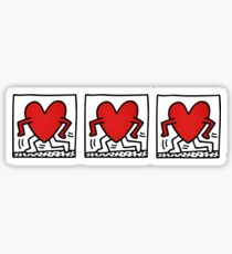 Keith Haring Heart/GDragon tattoo Sticker