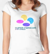 Vaporwave Famicom Women's Fitted Scoop T-Shirt
