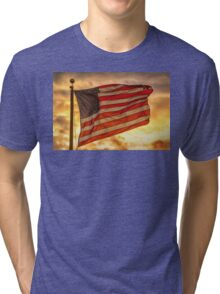 American Sunset On Fire Tri-blend T-Shirt