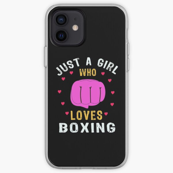 Just A Girl Who Loves Boxing iPhone Soft Case