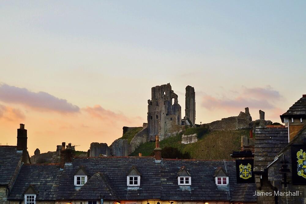 Corfe Castle, Dorset at Dusk by James Marshall