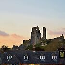 Corfe Castle, Dorset at Dusk by James Marshall