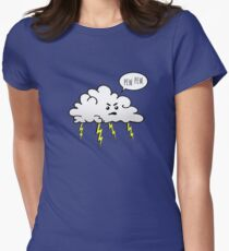 Angry Cloud Womens Fitted T-Shirt