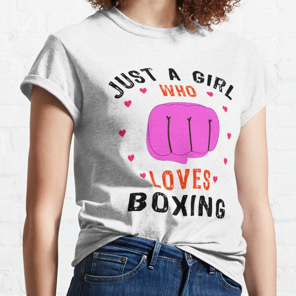 Just A Girl Who Loves Boxing Classic T-Shirt