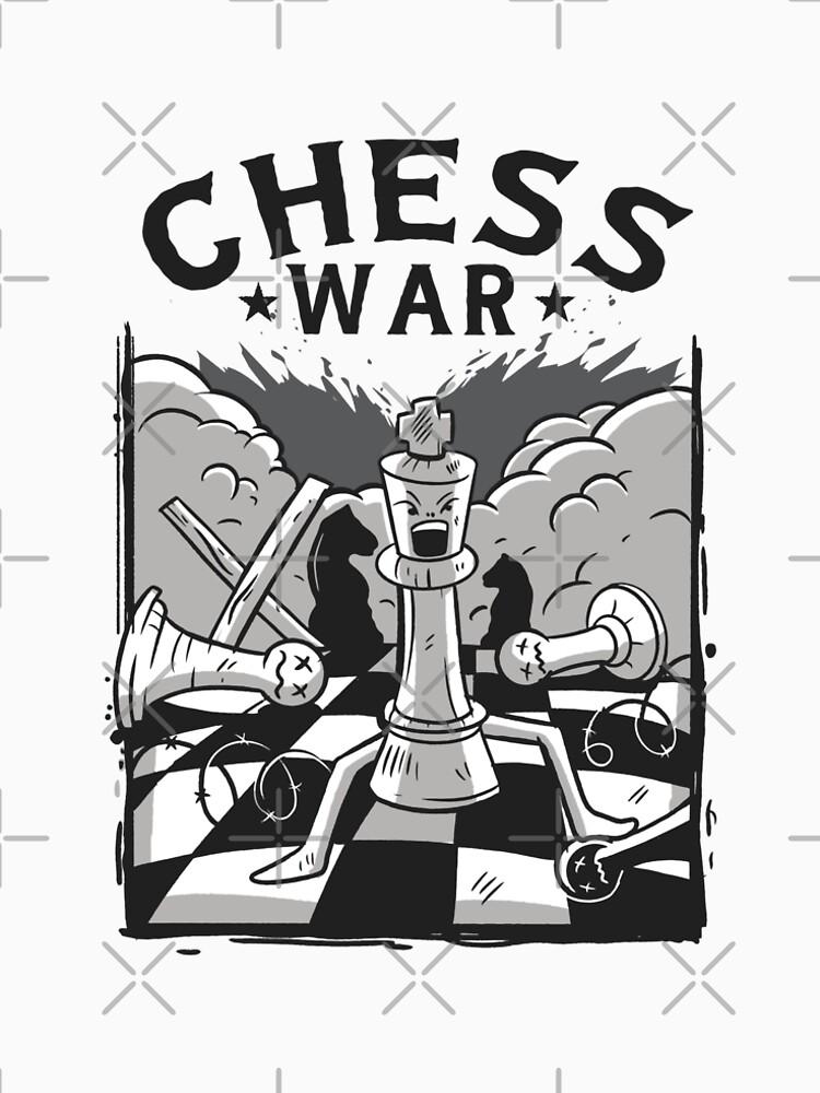 Chess funny chess war design by DrosoMan