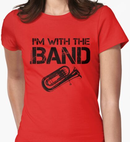 I'm With The Band - Baritone (Black Lettering) T-Shirt