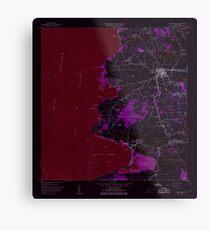 USGS TOPO Map Puerto Rico puerto real pr histmap Inverted Metal Print