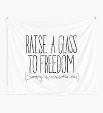 Raise A Glass Wall Tapestry