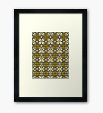 Florets and Clovers Pattern Framed Print