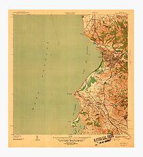 USGS TOPO Map Puerto Rico PR Mayaguez 362470 1939 30000 Photographic Print