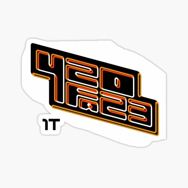 420FAZ3 - Logotipo negro y naranja Pegatina