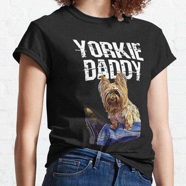 Yorkie Daddy Best Yorkshire Terrier Dad Vintage Grunge Dog Classic T-Shirt